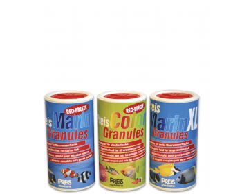 PreisMarin Granules complete food for marine fish,PreisColor Granules specifically tailored to the needs of all ornamental fish.
